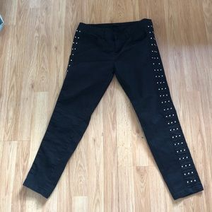 Forever 21 black with gold studs - skinnies